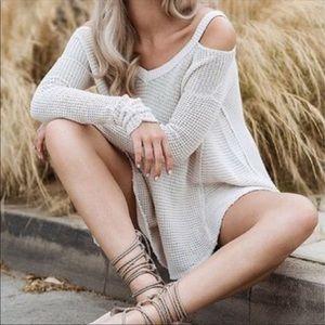 Free People Moonshine cold shoulder sweater